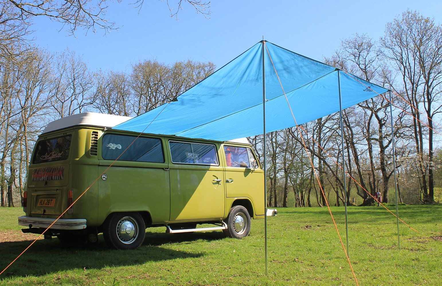 Debus Campervan Sun Canopy Awning T2 T25 Connection Kit Azure Blue